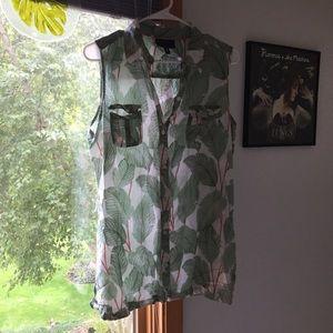 Foxcroft botanical blouse
